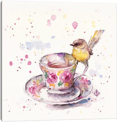 There's Always Time For Tea Canvas Art Print