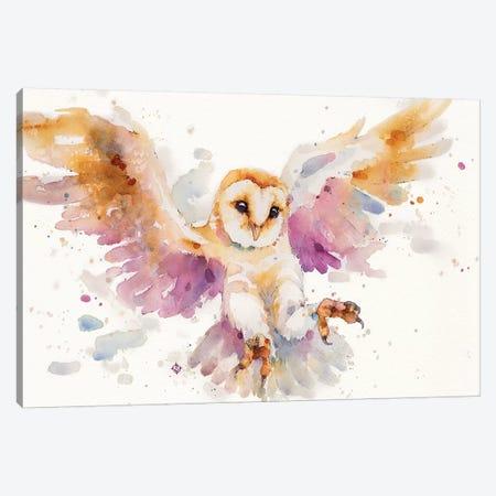 Twilight Owl Canvas Print #SIL68} by Sillier Than Sally Canvas Art Print