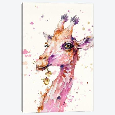 A Lovely & Lofty View (Giraffe) Canvas Print #SIL74} by Sillier Than Sally Canvas Print