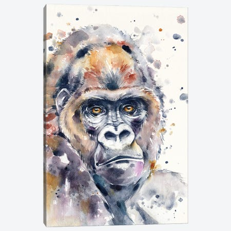 A World Away (Gorilla) Canvas Print #SIL75} by Sillier Than Sally Canvas Print