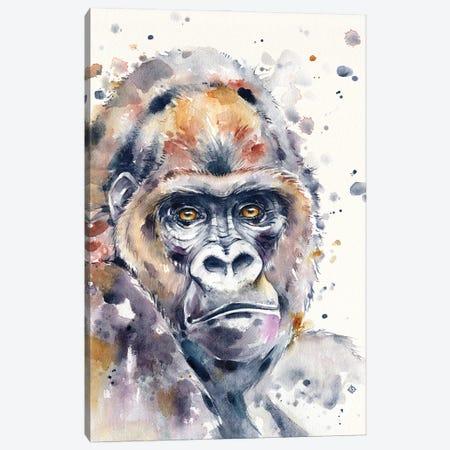 A World Away (Gorilla) Canvas Print #SIL75} by Sillier Than Sally Canvas Print