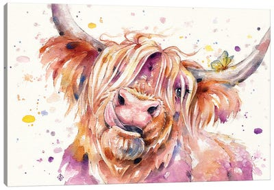 Bad Hair Don't Care (Scottish Highland Cow) Canvas Art Print