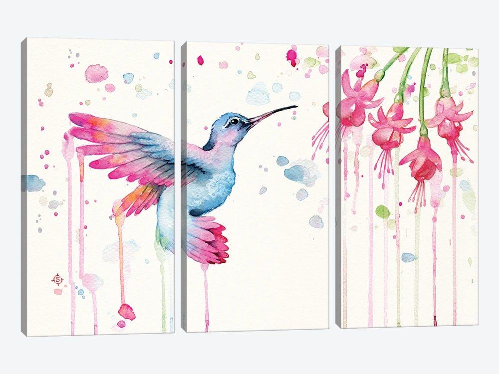 Hummingbird Garden by Sillier Than Sally 3-piece Canvas Art