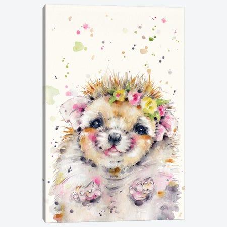 Little Hedgehog Canvas Print #SIL79} by Sillier Than Sally Canvas Artwork