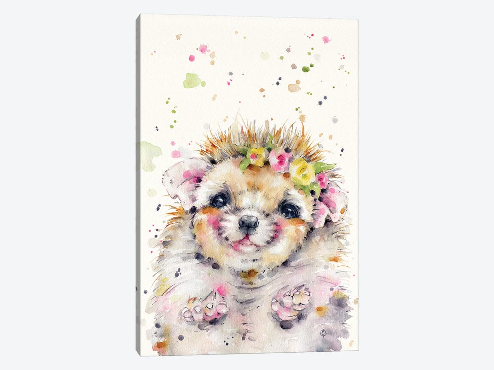 Little Hedgehog by Sillier Than Sally 1-piece Art Print