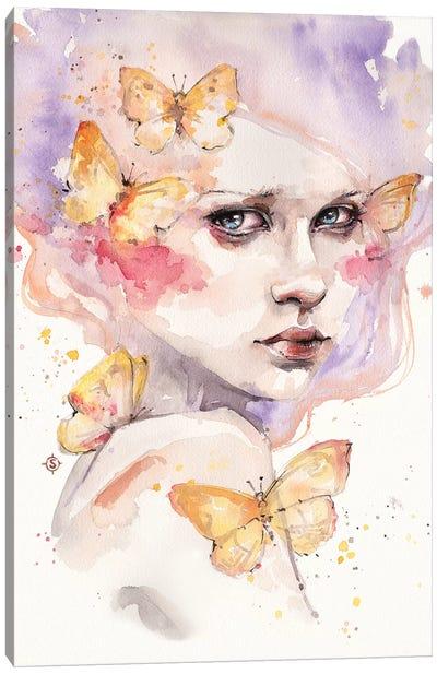 All A Flutter Canvas Art Print