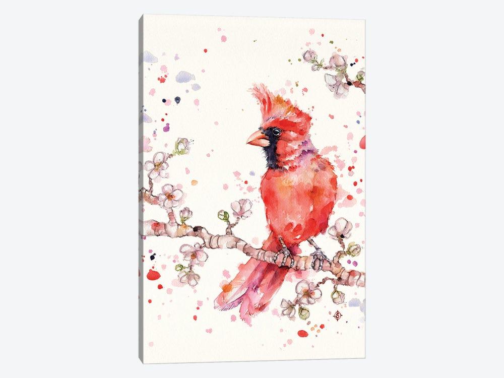 A Change In Seasons (Cardinal Bird) by Sillier Than Sally 1-piece Canvas Art Print