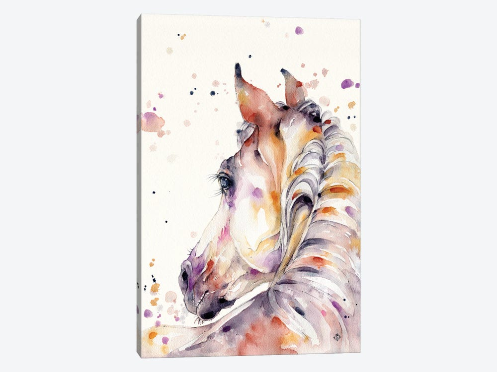 Strength & Softness (Horse) by Sillier Than Sally 1-piece Canvas Art