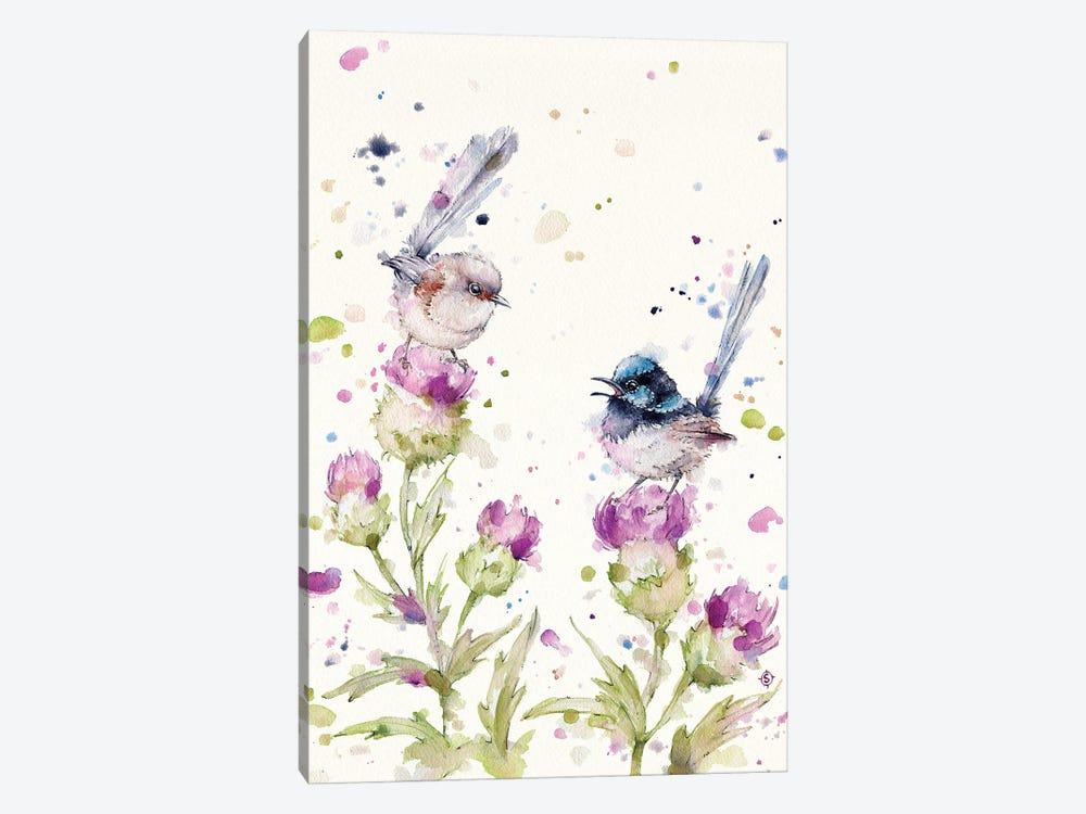 Yes Darling I See You There (Fairy Wrens) by Sillier Than Sally 1-piece Canvas Art