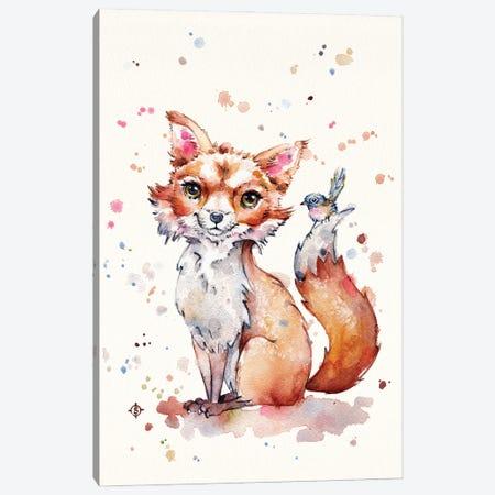 Sweet Fox Canvas Print #SIL85} by Sillier Than Sally Canvas Artwork