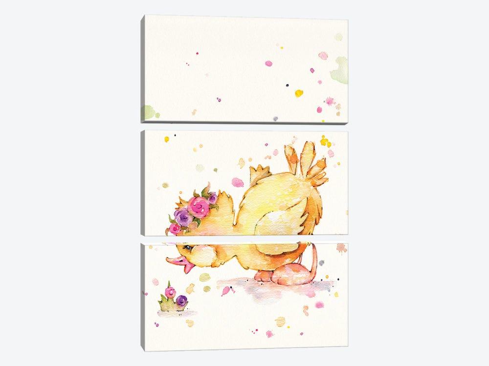 Sweet Duck by Sillier Than Sally 3-piece Canvas Art