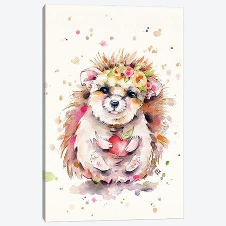 Sweet Hedgehog Canvas Print #SIL89} by Sillier Than Sally Canvas Art Print