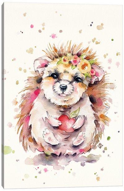 Sweet Hedgehog Canvas Art Print