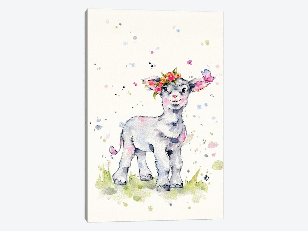 Sweet Lamb by Sillier Than Sally 1-piece Canvas Art Print