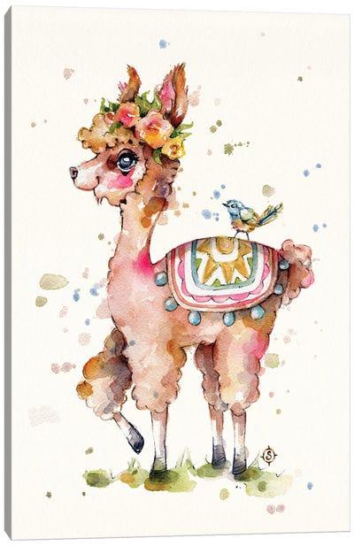 Sweet Llama Canvas Art Print