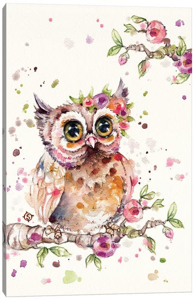 Sweet Owl Canvas Art Print
