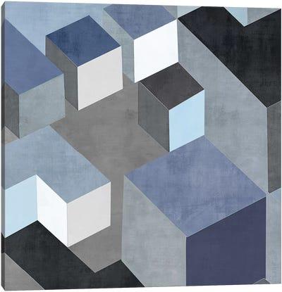 Cubic In Blue II Canvas Art Print