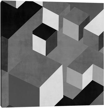Cubic In Grey I Canvas Art Print