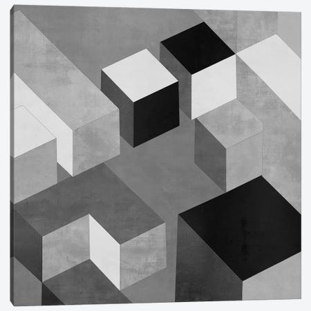 Cubic In Grey II Canvas Print #SIM4} by Todd Simmons Canvas Art Print