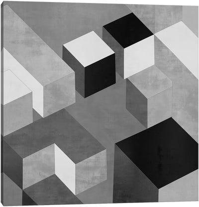 Cubic In Grey II Canvas Art Print