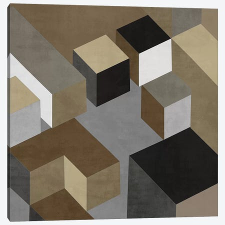 Cubic In Neutral I Canvas Print #SIM5} by Todd Simmons Art Print