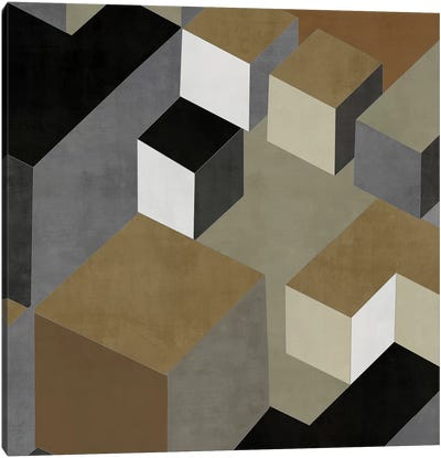 Cubic In Neutral II Canvas Art Print