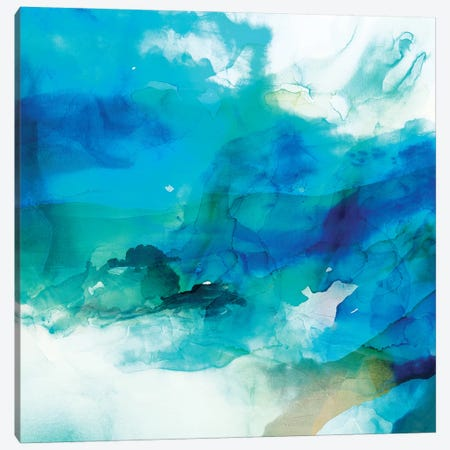 Ephemeral Blue I Canvas Print #SIS100} by Sisa Jasper Canvas Print