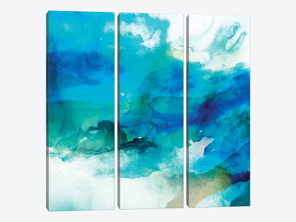 Ephemeral Blue I by Sisa Jasper 3-piece Canvas Art Print