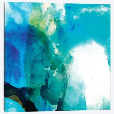 Ephemeral Blue II 3-Piece Canvas #SIS101} by Sisa Jasper Canvas Print