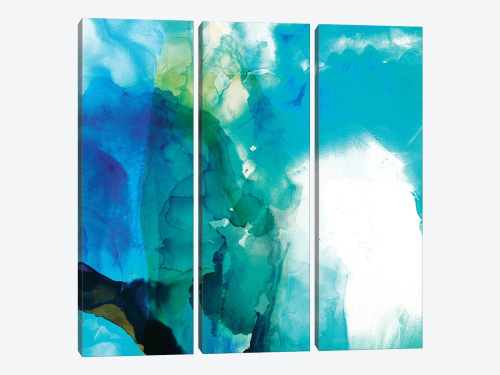 Ephemeral Blue II by Sisa Jasper 3-piece Canvas Art