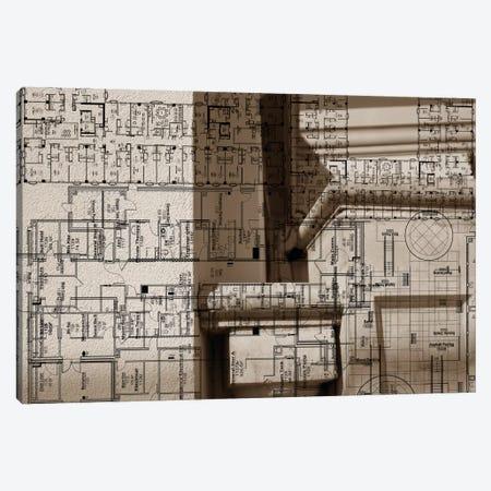 Architecture Drawing IV Canvas Print #SIS10} by Sisa Jasper Canvas Art Print
