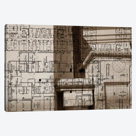 Architecture Drawing IV Canvas Print #SIS10} by Sisa Jasper Canvas Art Print