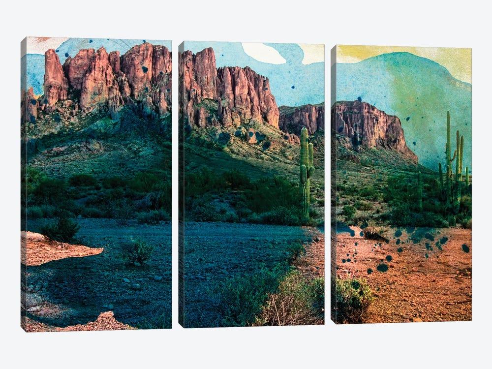 Arizona Abstract by Sisa Jasper 3-piece Canvas Wall Art