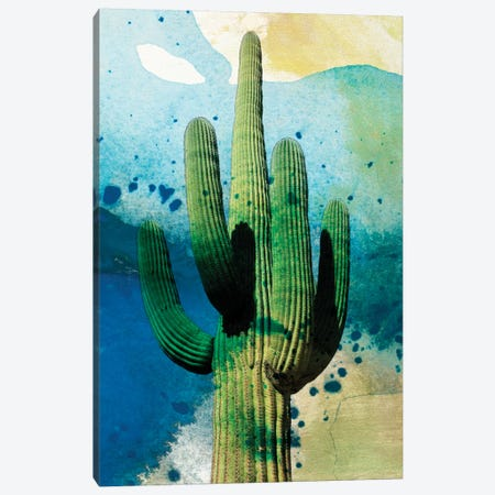 Cactus Abstract Canvas Print #SIS12} by Sisa Jasper Canvas Art Print