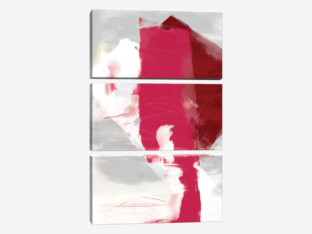 Magenta Abstract I by Sisa Jasper 3-piece Canvas Art Print