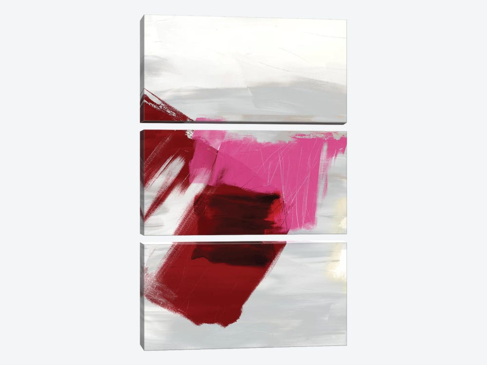 Magenta Abstract II by Sisa Jasper 3-piece Canvas Artwork