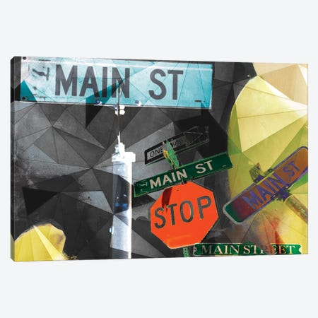 Main Street Collage Canvas Print #SIS20} by Sisa Jasper Canvas Artwork