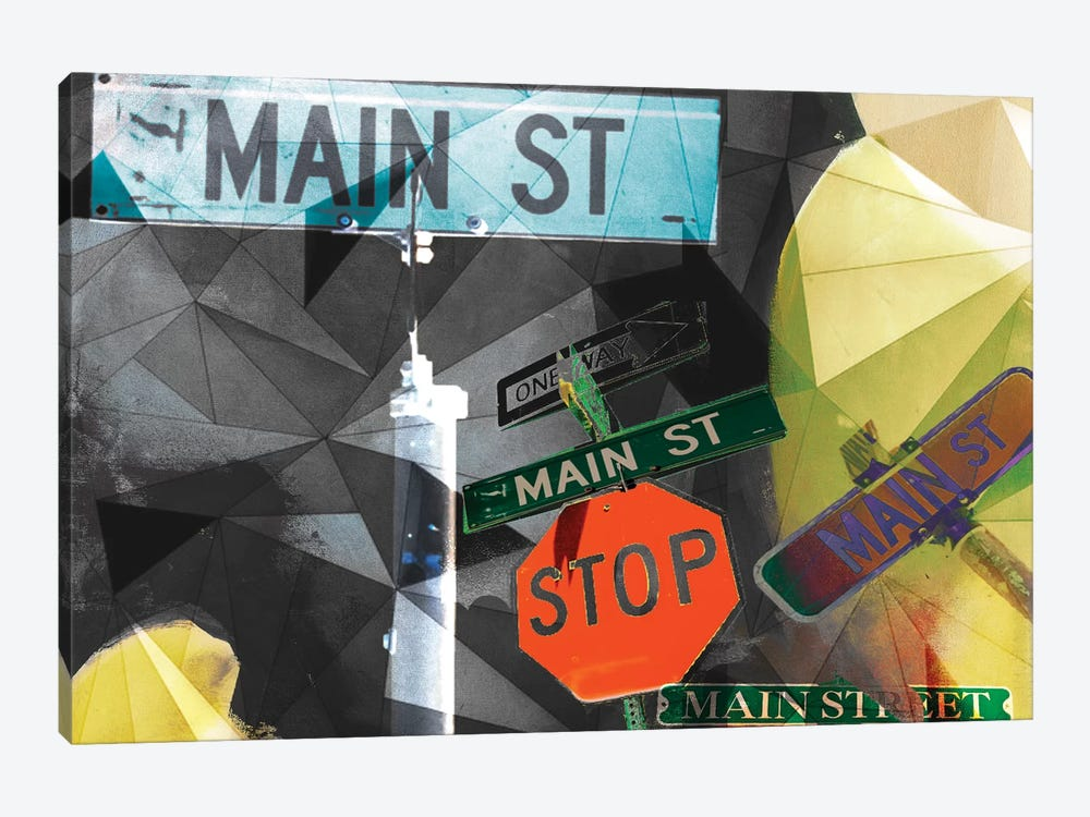 Main Street Collage by Sisa Jasper 1-piece Canvas Artwork