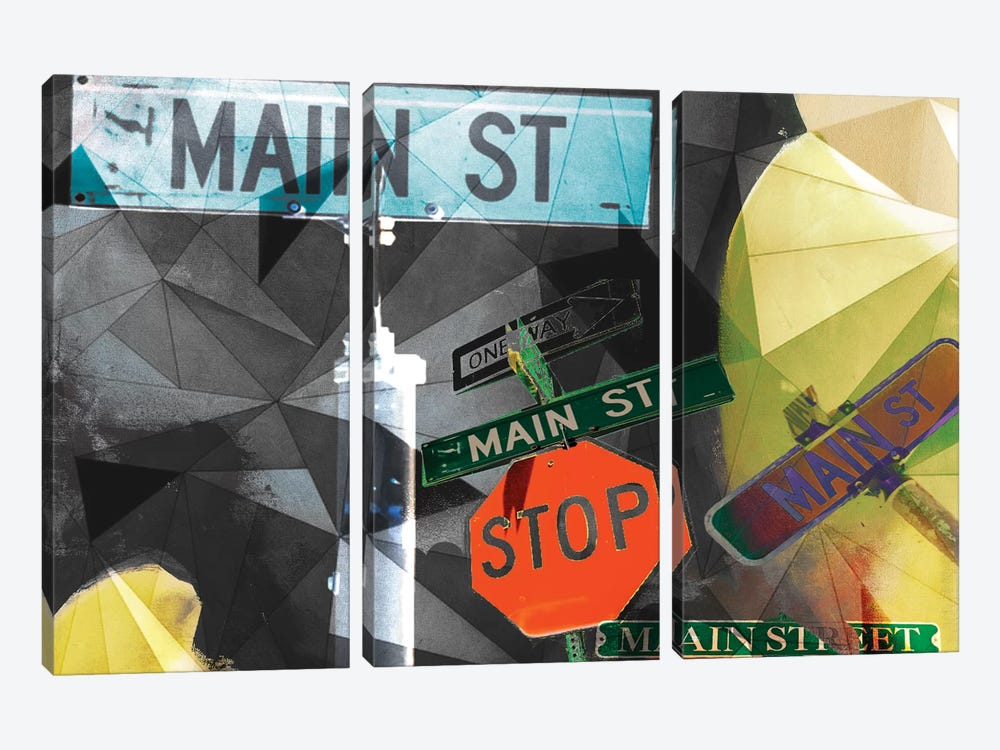 Main Street Collage by Sisa Jasper 3-piece Canvas Wall Art