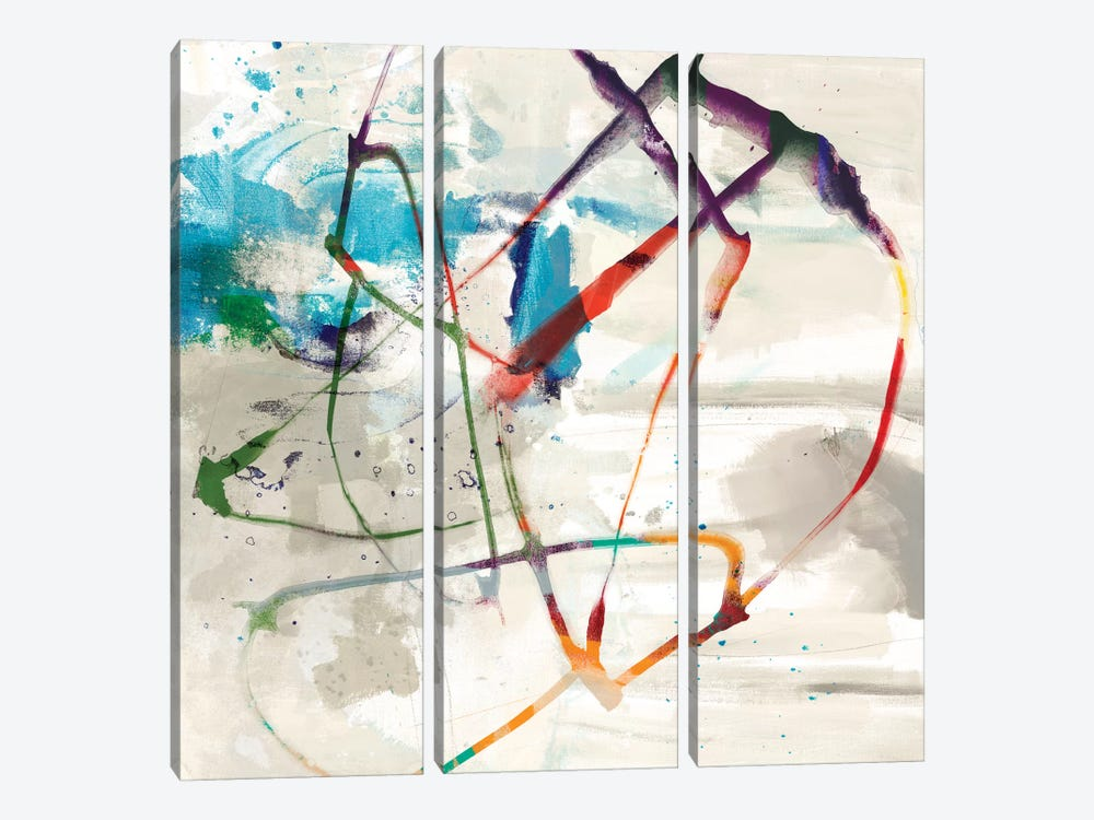 Playful Intent II by Sisa Jasper 3-piece Canvas Print