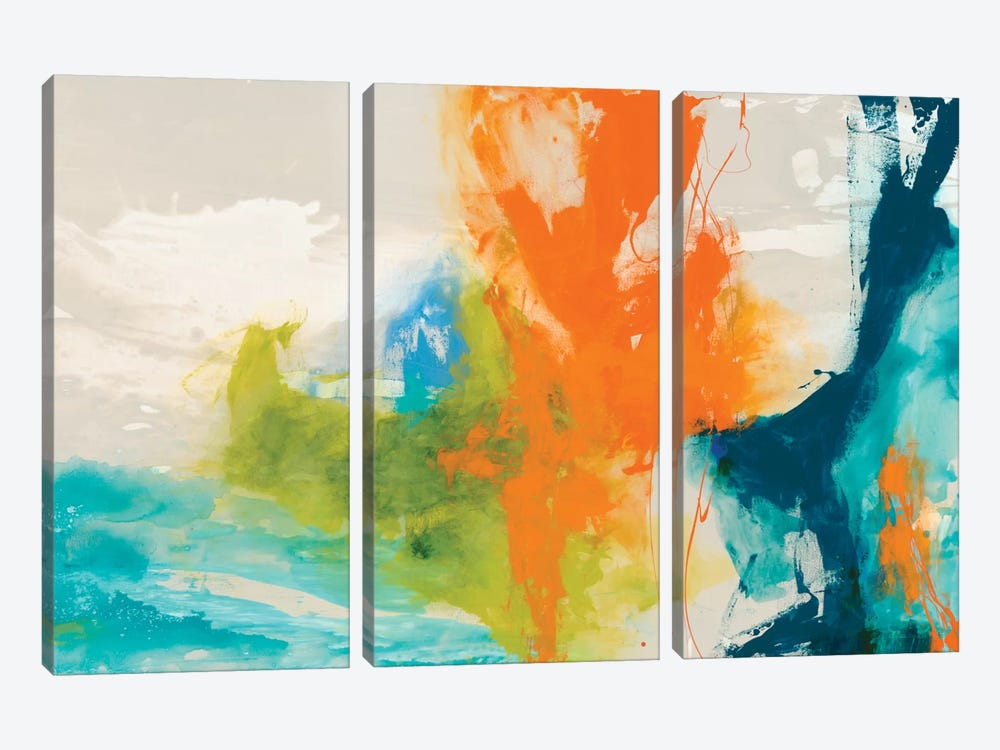 Tidal Abstract I by Sisa Jasper 3-piece Canvas Wall Art