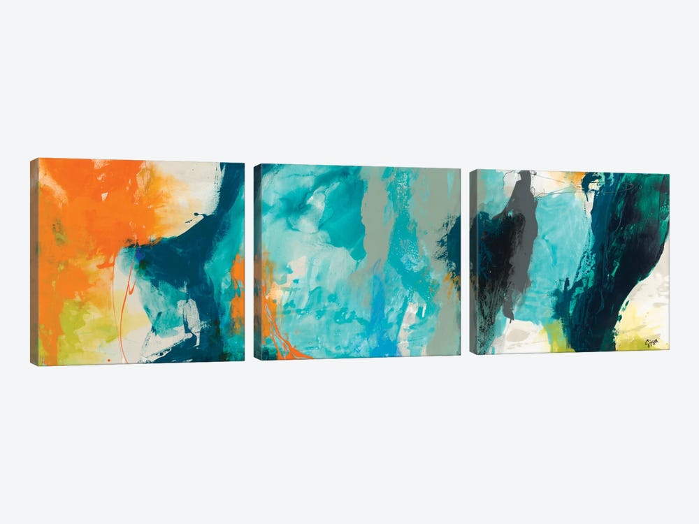 Tidal Abstract II by Sisa Jasper 3-piece Canvas Art Print
