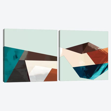 Block Detail Diptych Canvas Print Set #SIS2HSET001} by Sisa Jasper Art Print