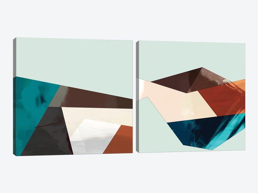 Block Detail Diptych by Sisa Jasper 2-piece Canvas Artwork