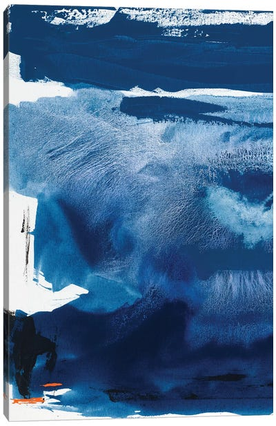 Blue Amore III Canvas Art Print