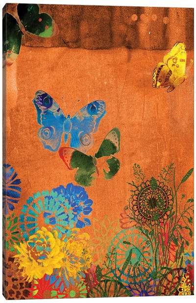 Butterfly Panorama Triptych Panel I Canvas Print #SIS36