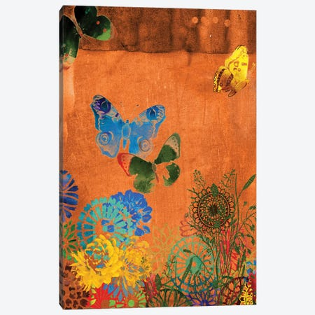 Butterfly Panorama Triptych Panel I Canvas Print #SIS36} by Sisa Jasper Canvas Art