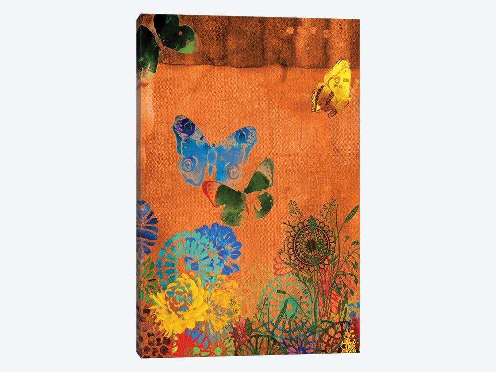 Butterfly Panorama Triptych Panel I by Sisa Jasper 1-piece Art Print