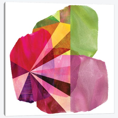 Geo Mono Block I Canvas Print #SIS45} by Sisa Jasper Canvas Print