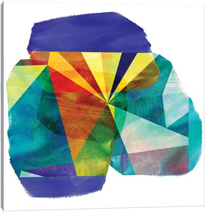 Geo Mono Block III Canvas Art Print